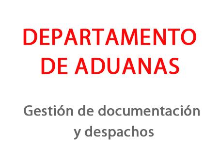 DEPARTAMENTO ADUANAS