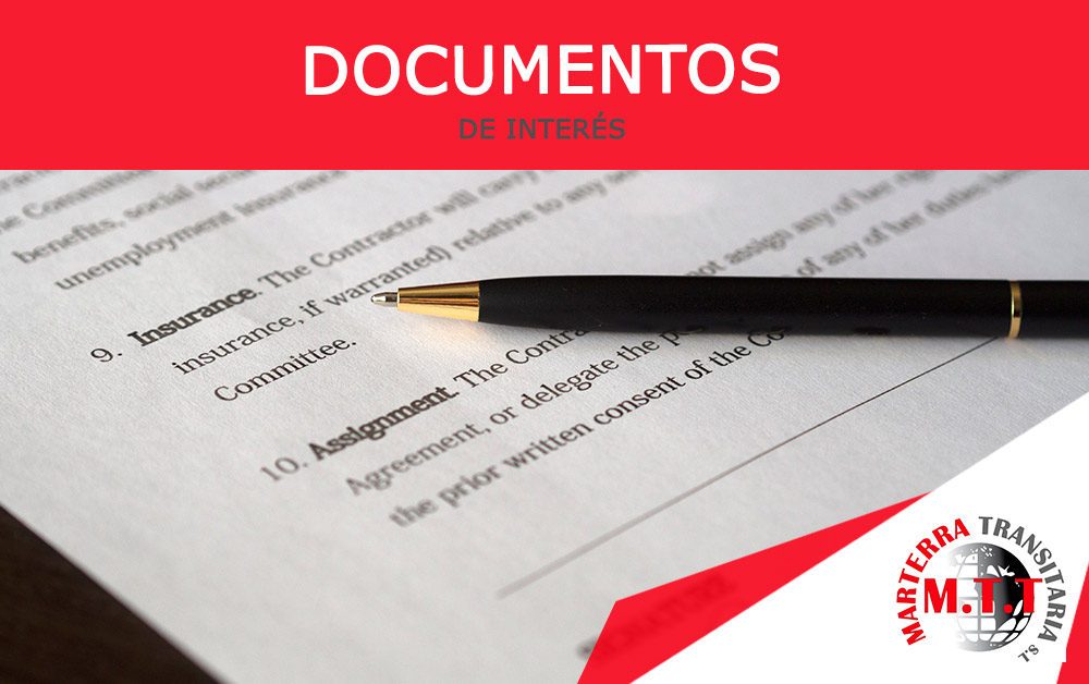 documentos de interes aduana
